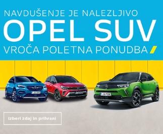 Opel SUV Poletna ponudba